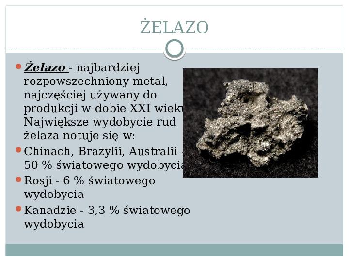Surowce mineralne Ziemi - Slajd 8