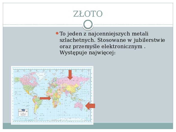 Surowce mineralne Ziemi - Slajd 10