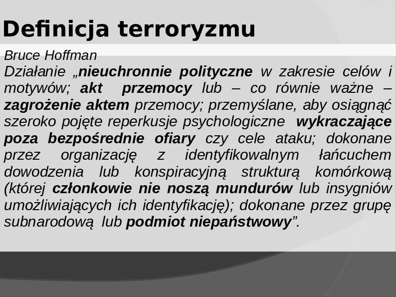 Terroryzm - Slajd 1