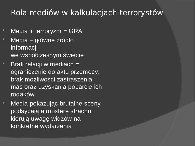 Terroryzm - Slajd 3