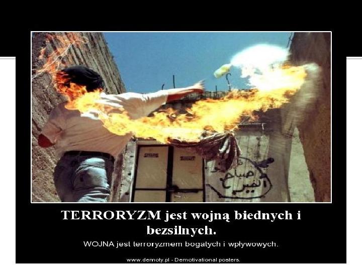Terroryzm XXI wieku - Slajd 13