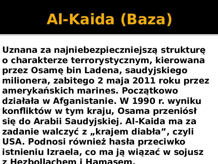 Terroryzm XXI wieku - Slajd 23