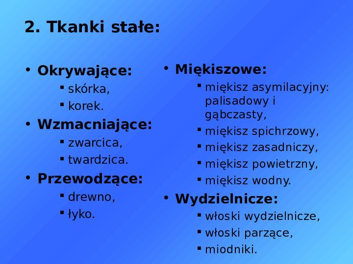 Tkanki - Slajd 7