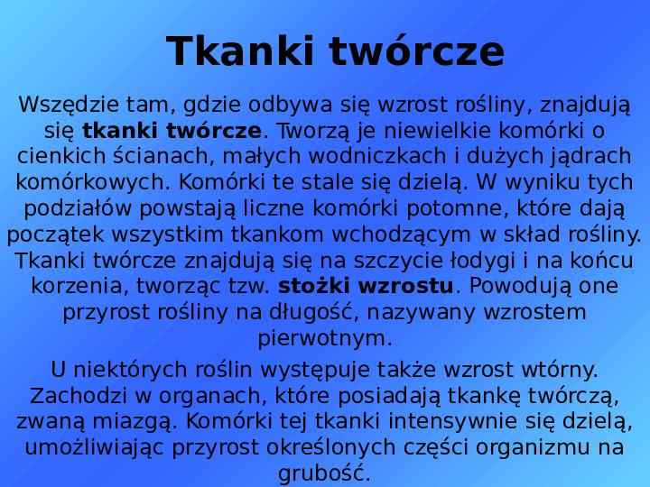 Tkanki - Slajd 8