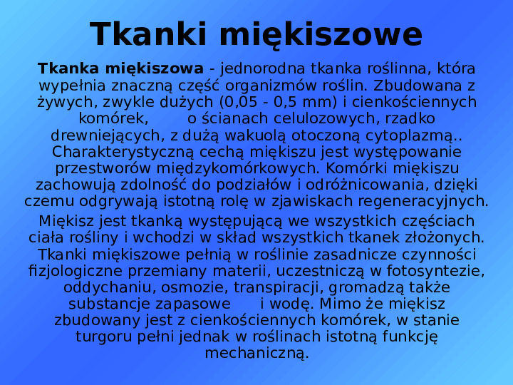 Tkanki - Slajd 17