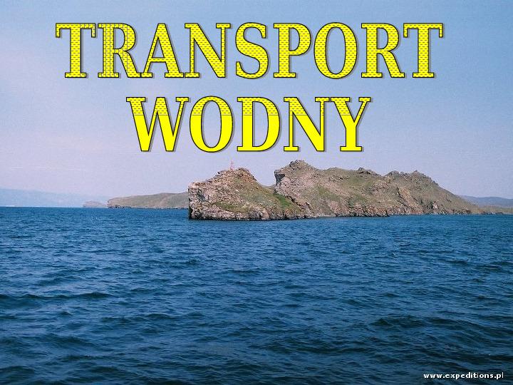 Transporty - lądowy, wodny, powietrzny - Slajd 24
