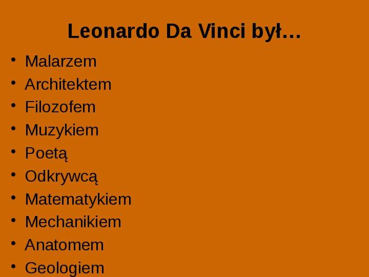 Leonardo Da Vinci - Slajd 1