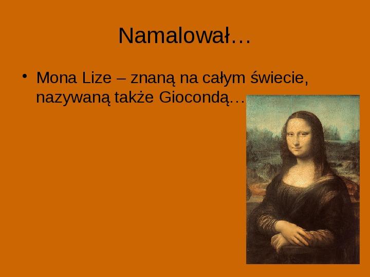 Leonardo Da Vinci - Slajd 2