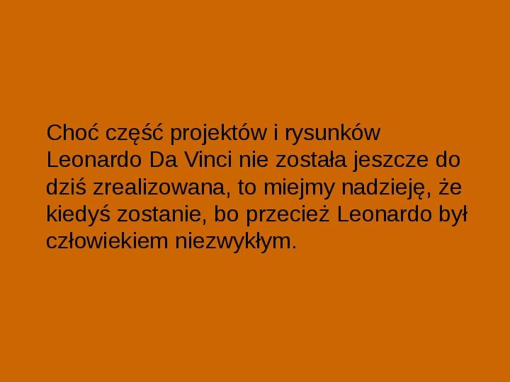Leonardo Da Vinci - Slajd 26