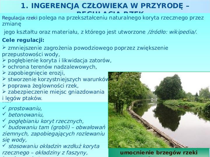 Użytkowanie i zagrożenia wód słodkich - Slajd 11
