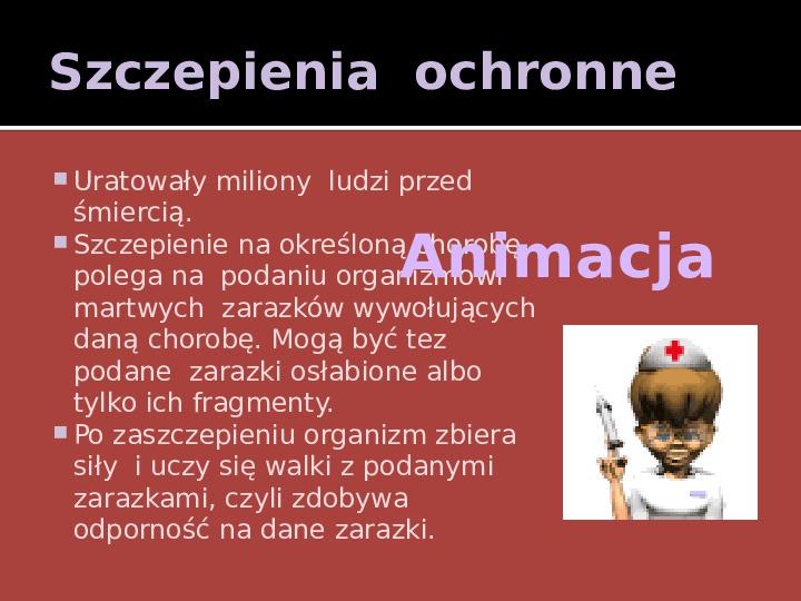 Walka z chorobami zakaźnymi - Slajd 7