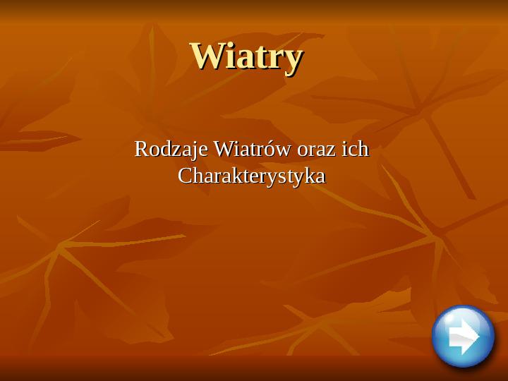 Wiatry - Slajd 1