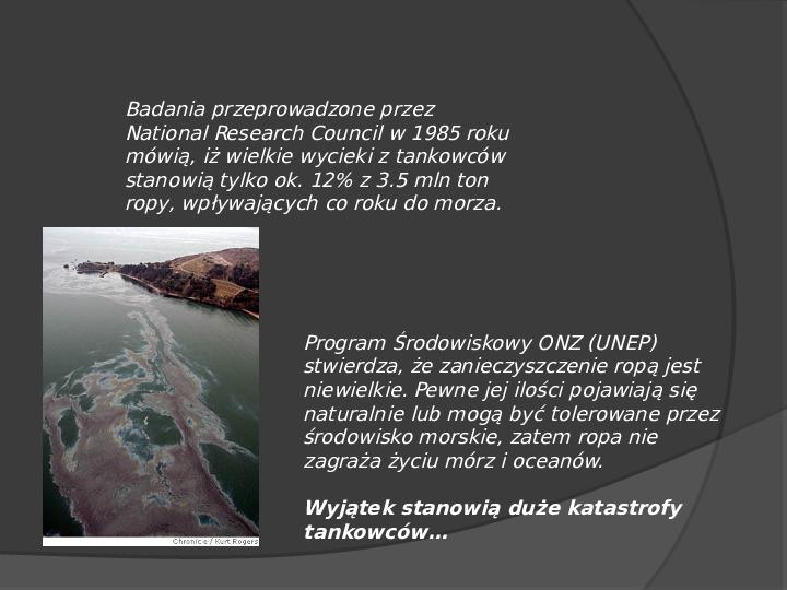 Wielkie katastrofy ekologiczne wywołane działalnością człowieka - Slajd 22