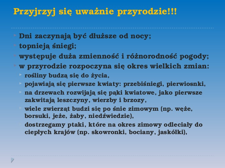 Pory roku w Polsce - Slajd 4