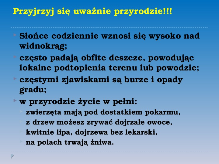 Pory roku w Polsce - Slajd 8