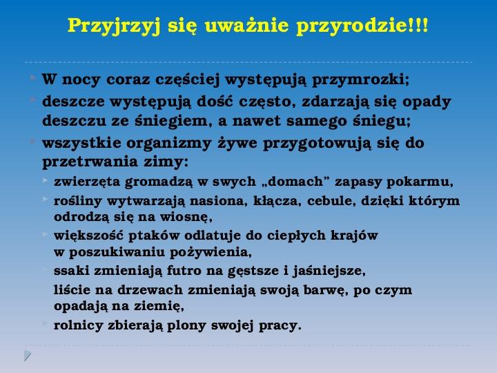 Pory roku w Polsce - Slajd 12