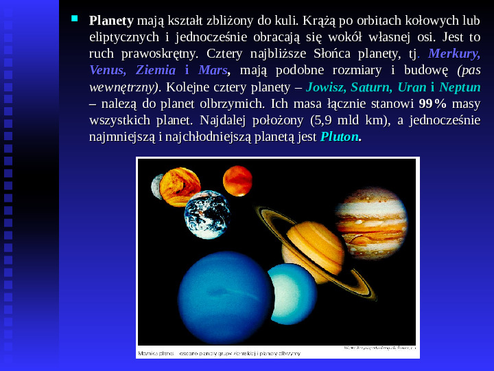 Ziemia we Wszechświecie Ziemia w układzie słonecznym - Slajd 15