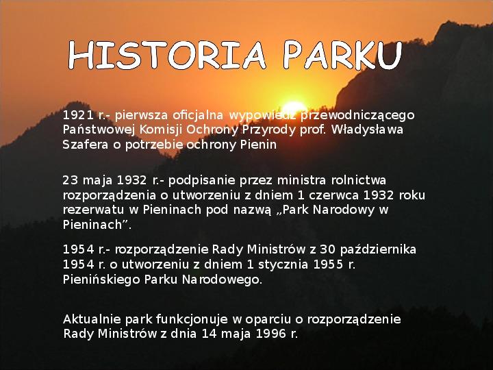 Pieniński Park Narodowy - Slajd 5