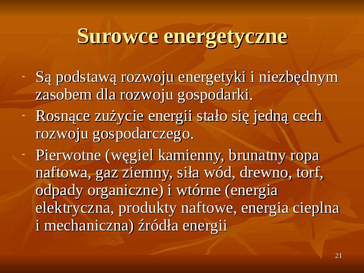Rola zasobów naturalnych we wzroście gospodarczym - Slajd 20