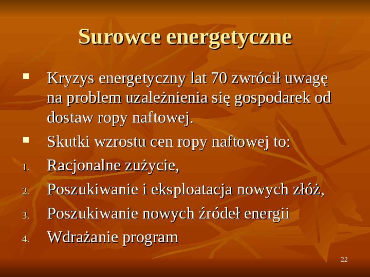 Rola zasobów naturalnych we wzroście gospodarczym - Slajd 21