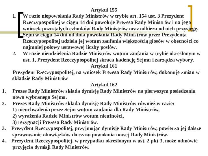 Władza wykonawcza - prezydent RP - Slajd 15