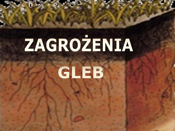 Zagrożenia gleb - Slajd 1