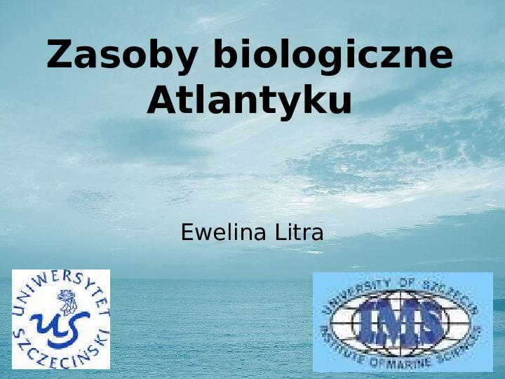 Zasoby biologiczne Atlantyku - Slajd 1