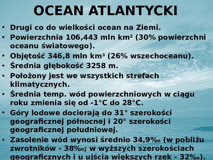 Zasoby biologiczne Atlantyku - Slajd 5