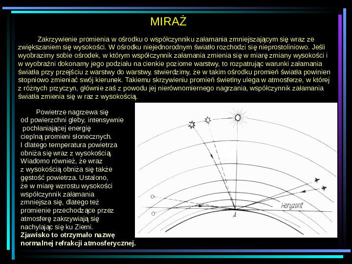 Fizyka - zjawiska optyczne - Slajd 10