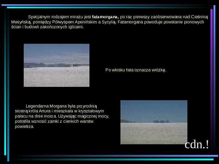 Fizyka - zjawiska optyczne - Slajd 14