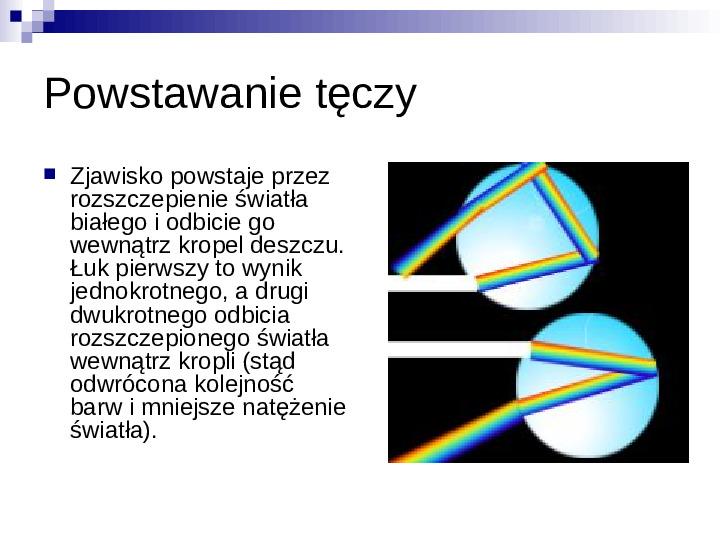 Zjawiska optyczne - Slajd 3