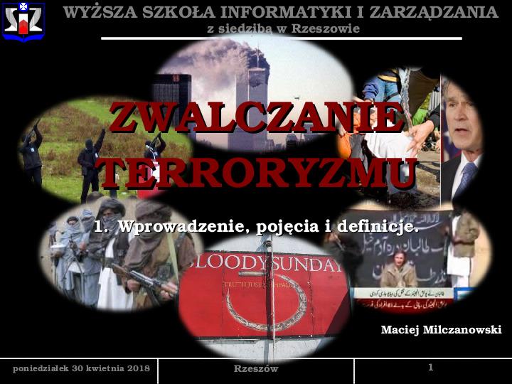 Zwalczanie terroryzmu - Slajd 1