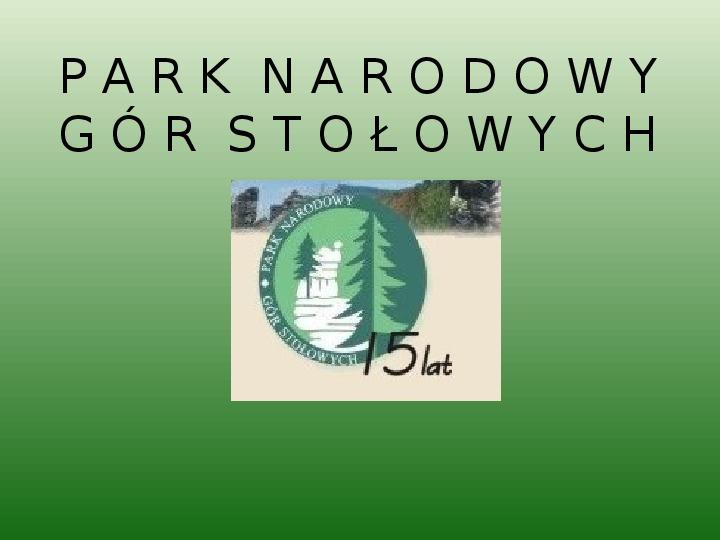 Park Narodowy Gór Stołowych - Slajd 1