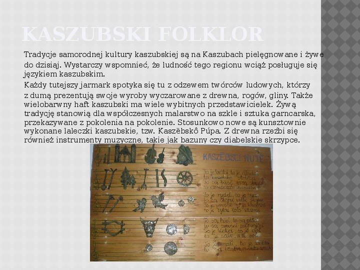 Kultura Materialna Kaszub - Slajd 2