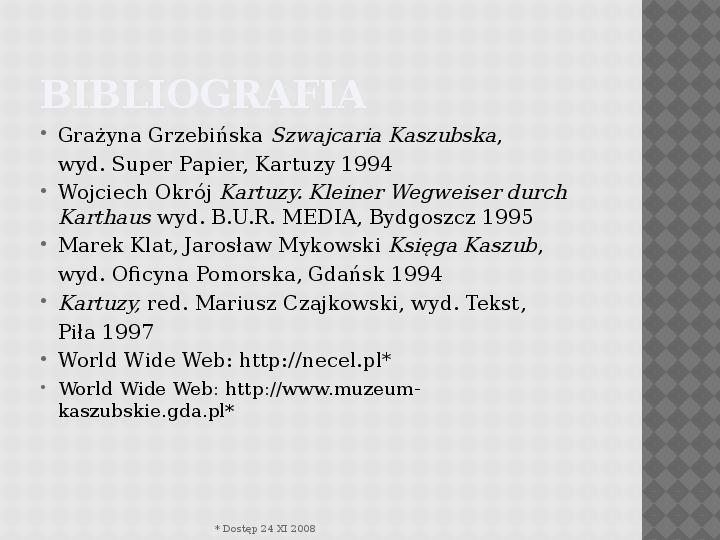 Kultura Materialna Kaszub - Slajd 14