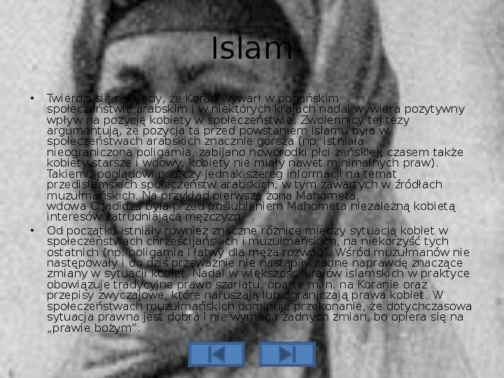 Pozycja kobiety w różnych kulturach - Slajd 4