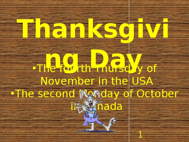 Thanksgiving Day - Slajd 1