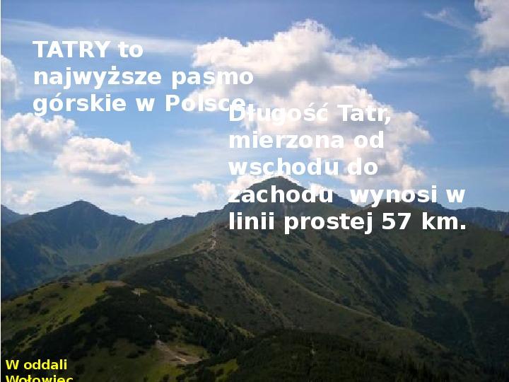 Tatry polskie - Slajd 1