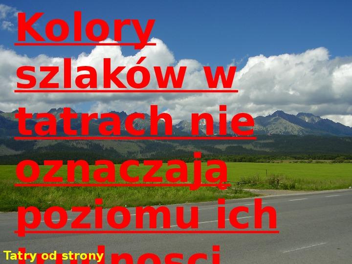 Tatry polskie - Slajd 2