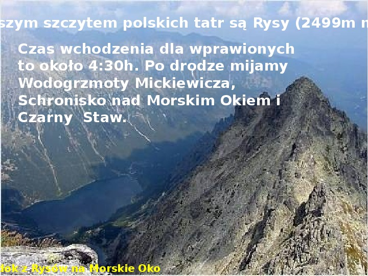 Tatry polskie - Slajd 3