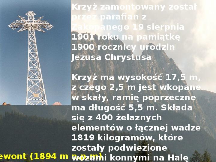 Tatry polskie - Slajd 11