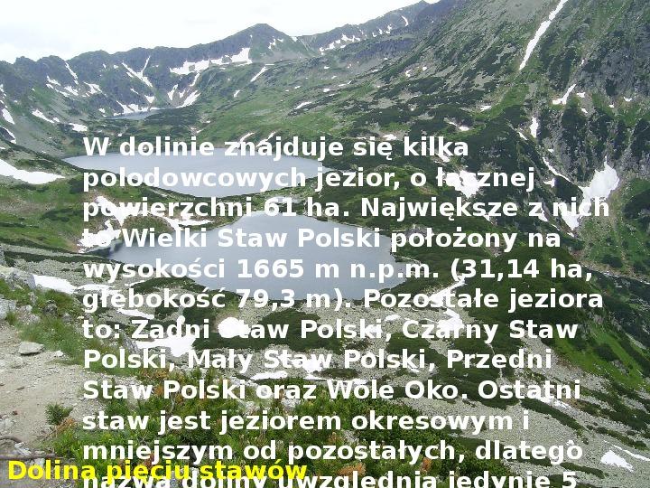 Tatry polskie - Slajd 13