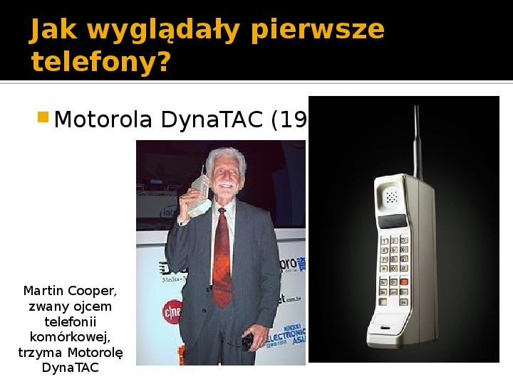 Historia telefonów komórkowych - Slajd 4
