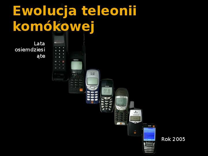 Historia telefonów komórkowych - Slajd 5