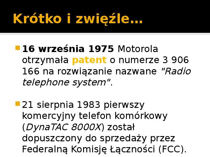 Historia telefonów komórkowych - Slajd 6