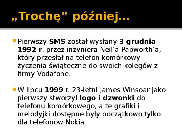 Historia telefonów komórkowych - Slajd 9