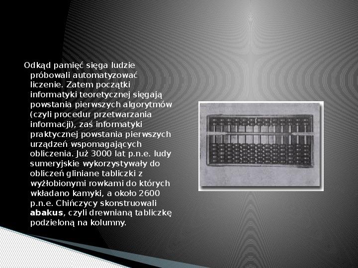 Historia informatyki - Slajd 2
