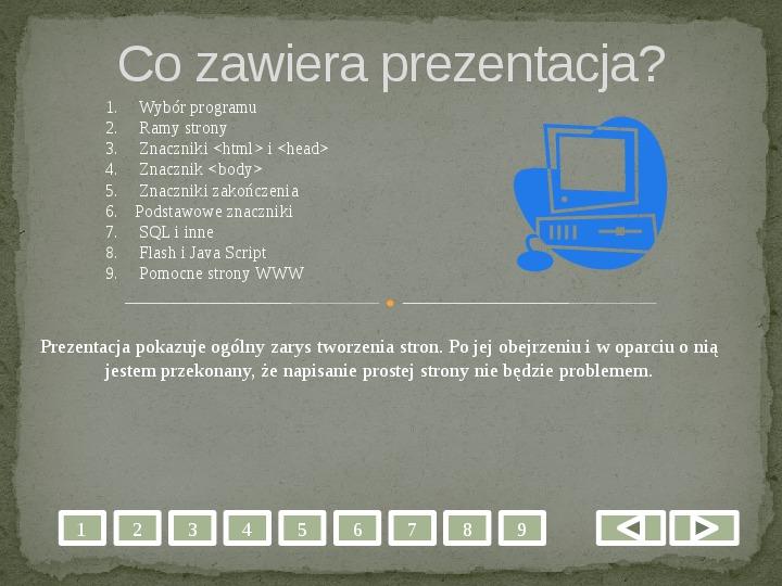 Projektowanie stron WWW - Slajd 1