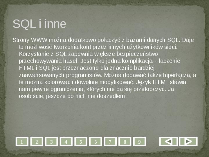 Projektowanie stron WWW - Slajd 8