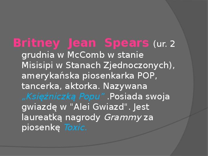 Britney Spears - Życie i kariera - Slajd 2